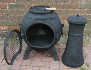 Wonderful Castmaster Chiminea Cast Iron Braided Design   Black Finish: Amazon.co.uk:  Garden U0026 Outdoors