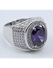 Sterling Silver 925 Ring with PURPLE zircon stone size 11
