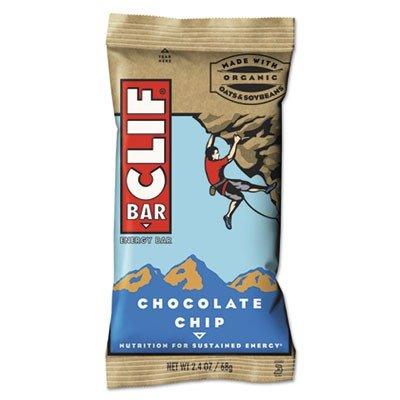 CLIF BAR & COMPANY Energy Bar, Chocolate Chip, 2.4oz, 12/Box (160004)