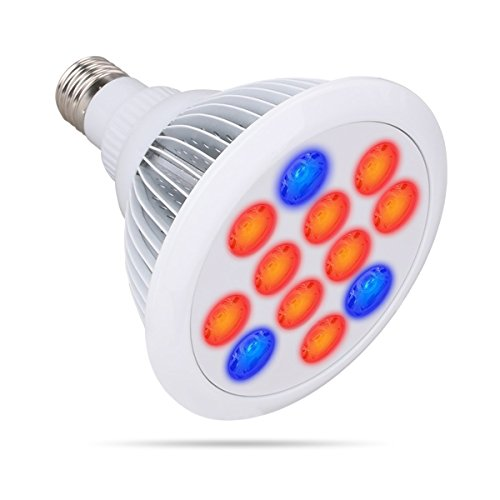 LED Grow Light, Growstar E27 LED Grow Plant Light Growing Bulbs for Indoor Plants Garden Greenhouse and Hydroponic Aquatic,12W(White)