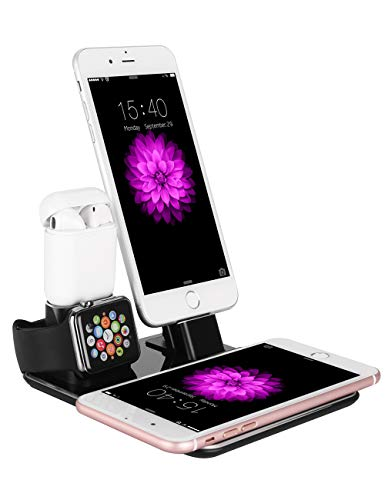 Fast Wireless Charger Stand, SJTS Wireless Charging Stand Station compatible with iPhone X/XS/XS MAX iPhone 8/8 Plus, Galaxy S8/S8 Plus/S7/S7(Black)