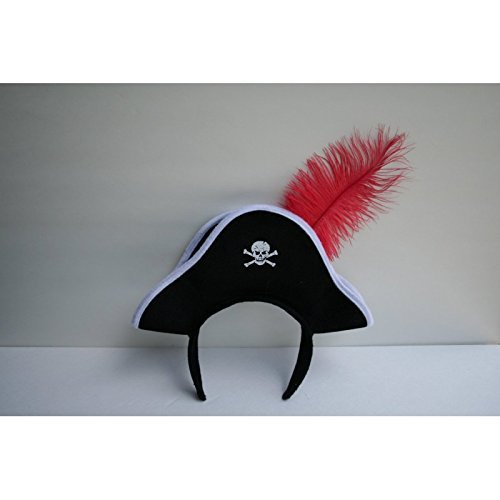 Hat Costumes Accessory (Jacobson Hat Company Pirate Headband with Feather)