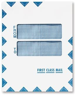 EGP Double Window First Class Mail Envelope - Peel & Seal - 100 Envelopes by EGPChecks