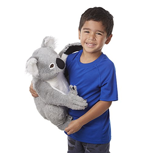 Small Koala - Melissa & Doug Lifelike Plush Koala Stuffed Animal (13.5W x 14H x 12D in)