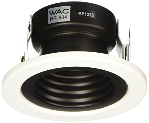 WAC Lighting HR-834-WT 2.5 Inch Recessed Low Voltage Trim Step Baffle in White Finish