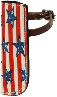 Western Brown Leather Flag Holder for a Western Saddle