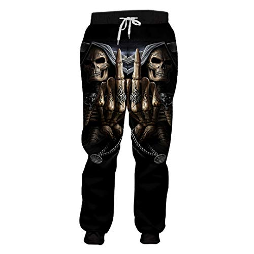 ERMFND Men's Casual Sweat Pants Print Punisher Skull 3D Harem Pants Homme Workout Exercise Full Length Joggers Punisher Skull L