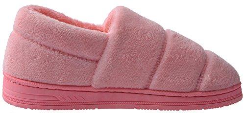 Indoor Outdoor House Non Unisex Loafer Pink Velvet Women UIESUN Slippers Slip FOpCYwq