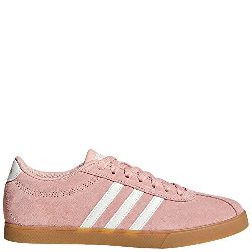 (adidas Women's Courtset, dust Pink/Cloud White/Gum, 9 M US)