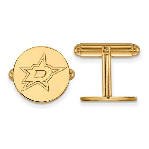 Star Yellow Cufflinks (Dallas Stars Cuff Links (14k Yellow Gold))