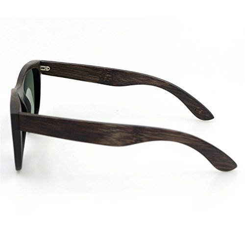 la pour Couleur de unisexe à main adulte Lunettes UV400 lentille en soleil Protection Bleu Gris bois Vintage KOMEISHO faits On0q1a6w