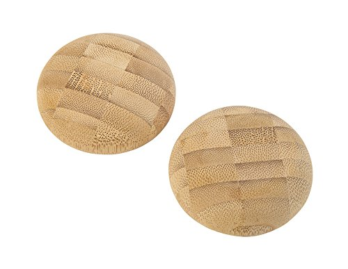 Mu-Xing Bamboo Small Stone (set of 2) to Provide Warmth to The Stressed Body parts | 100% Bamboo Massage Tool
