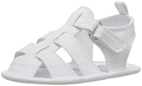 Polo Ralph Lauren Kids Boys' Jullien Fisherman Crib Shoe, White Canvas, 1 M US Infant Designer Infant Shoes