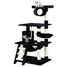 Go Pet Club F70 62-Inch Cat Tree Condo Furniture, Black