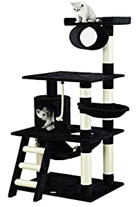 Go Pet Club Árbol para gato, 157 cm, negro