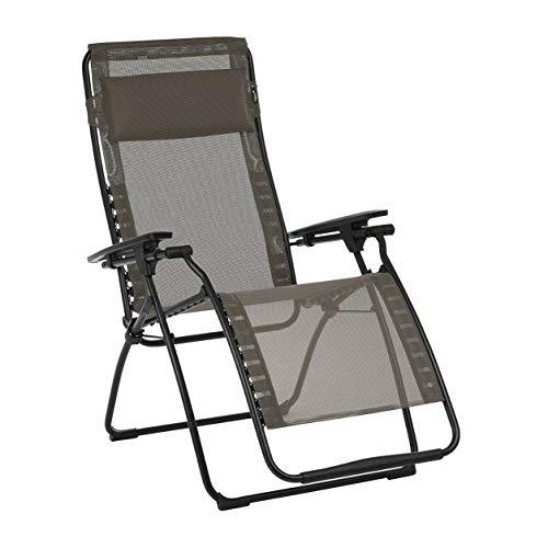 zwan Relaxation Chair Futura Batyline Zero Gravity Outdoor Recliner, Graphite with Ebook - Kit Stabilizer Graphite