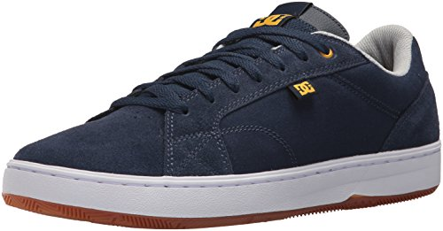 DC Men's Astor Skateboarding Shoe Navy/Gelb