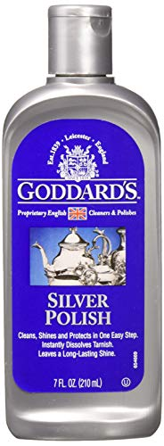 Goddard's Silver Polish Liquid, 7-oz Tarnish Remover - In Earrings Vintage Ball