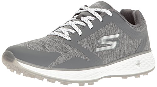 Skechers Performance Women's Go Golf Elite 2 Famed Golf Shoe, Gray Heathered, 8 M US