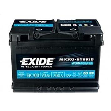 Exide EK700 Start-Stop AGM 12V 70AH 760A