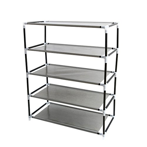 "uxcell Shoe Rack Tower, 5 Layers Holds 10 Pairs 27.6"" Height"