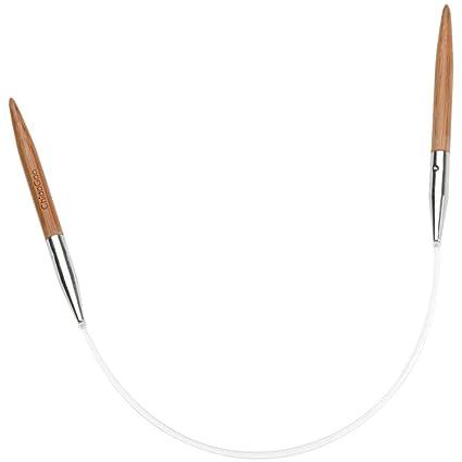 ChiaoGoo Circular 12-Inch Bamboo Dark Patina Knitting Needle 4mm