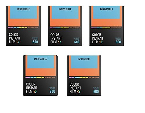 ossible Color Instant Film for 600 5-Pack (Color/Color Frames) by Impossible