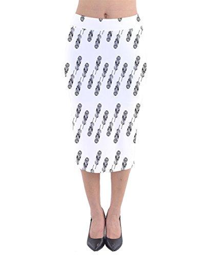CowCow - Falda - para mujer En Blanco Y Negro