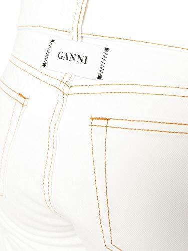 Blanco Poliéster F2880001 Ganni Jeans Mujer E8wxqpPx0