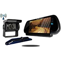 Tadibrothers 5th Wheel Wireless Backup Camera System with a 7 Inch Mirror and 2 Backup Cameras
