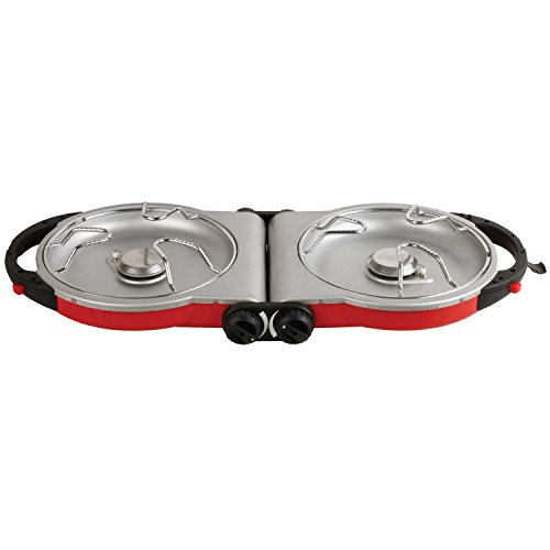 Coleman Fold N Go InstaStart 2-Burner Propane Stove for A Stress-Free Memorial Day Weekend Camping Trip