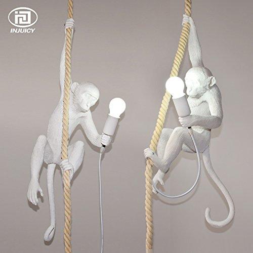 Injuicy Lighting Loft Vintage Resin Hemp Rope Monkey Pend...