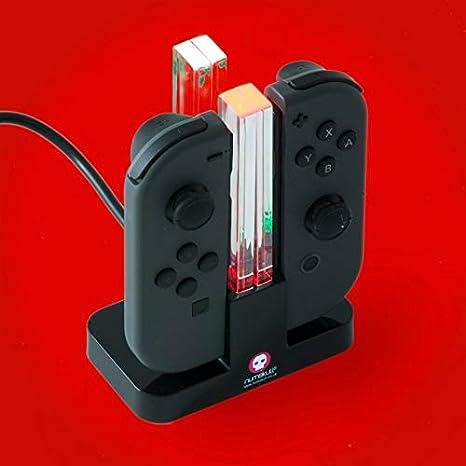 Nintendo Switch Muelle de carga Joy Con, soporte de cargador 4 en 1 y soporte de carga con indicador LED: Amazon.es: Videojuegos
