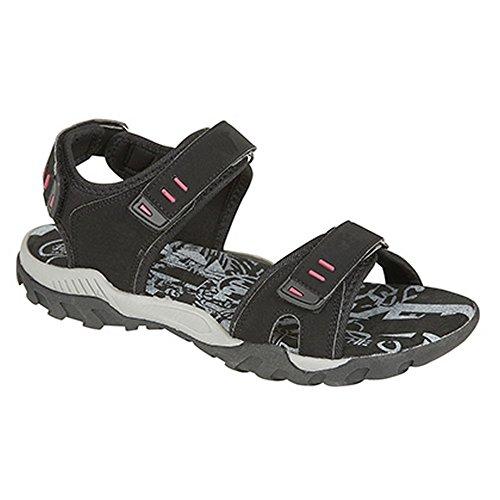 Sport Grau Damen Klettverschluss Sandale mit Trekkingsandale PDQ wv7Tqg