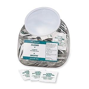 """Allegro Industries 0350‐20 Bucket Eyewear Cleaning Wipes, 5"""" x 8"""" (Pack of 200)"""