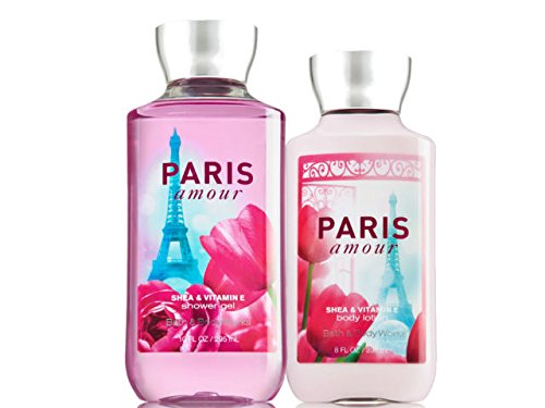 Bath and Body Works Signature Classics Pleasures Collection Body Lotion and Shower Gel Gift Set Men or Women (Paris Amour)