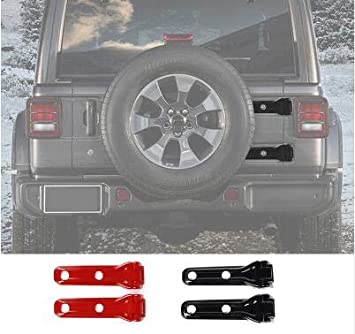 Black FMtoppeak 4Colors Exterior Accessaries Car Spare Tire Tailgate Door Hinge Covers Stickers ABS for Jeep Wrangler JL 2018 UP