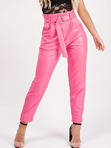Liso Pantalón Girly Para Handbags Mujer Fucsia Pantalones tZZr1q