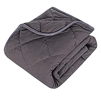 BEDSUM Extremely Smooth Microfiber Toddler Comforter, Light-weight Stable Shade Crib Quilt for Boys and Women, 39×47 Inches Children Heat Child Quilted Blanket, Darkish Gray