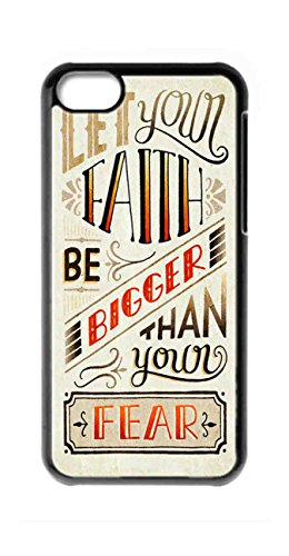 let your faith be bigger than your fears Personalized iphone 5c custom photo Snap-on Hard back Case Cover fs-112