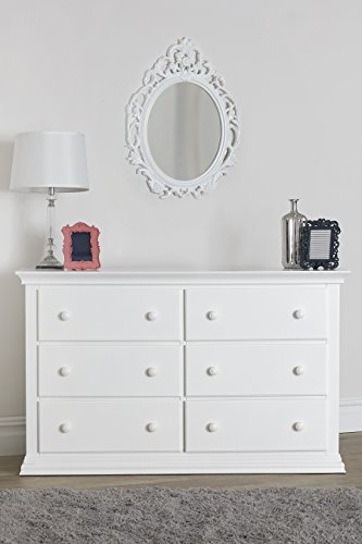 Suite Bebe Riley 6 Drawer Double Dresser, White