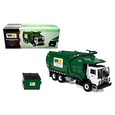 FIRST GEAR 1:34 WASTE MANAGEMENT - MACK TERRAPRO FRONT LOAD REFUSE WITH TRASH BIN DIECAST TOY CAR 10-4001: Toys & Games