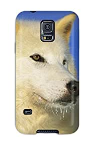 High Grade Jasenka Selimovich Flexible Tpu Case For Galaxy S5 - Arctic Wolf