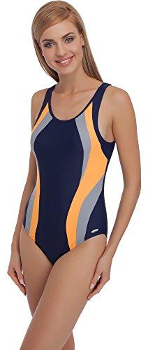 Merry Style Mujer Traje de Baño MS72 Navy/Naranja