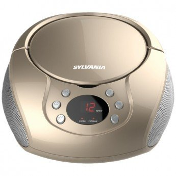 SYLVANIA SRCD261-B-CHAMPAGNE Portable CD Players with AM/FM