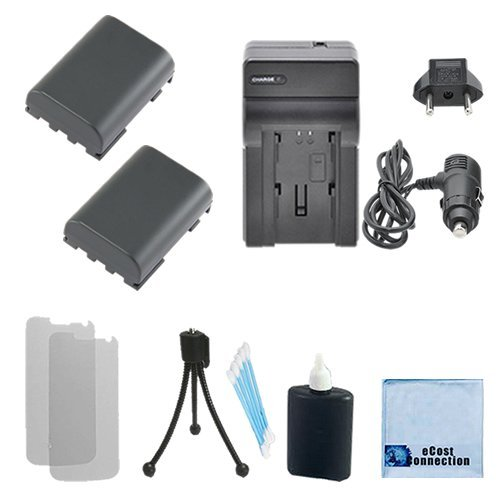 300i Memory (2 NB-2LH Batteries + Charger for Canon S30, S40, S45, S50, S55, S60, S70, S80, G7, G9 and more... + Complete Starter Kit)