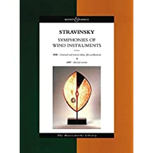 Stravinsky - Symphonies of Wind Instruments: The Masterworks Library (study score)