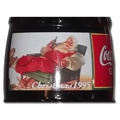1995 Christmas Santa Reclining With Baby Deer Commemorative Coca Cola Full Unopened Bottle 8 Oz by Coca-Cola