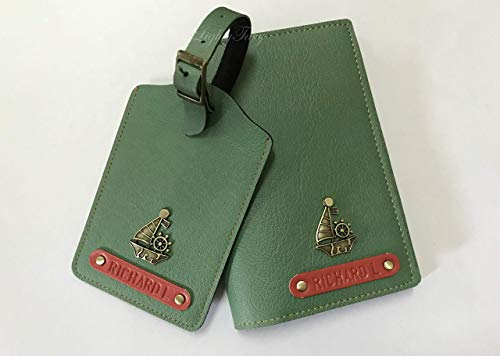 Set of Personalised Passport Holder and Luggage Tag