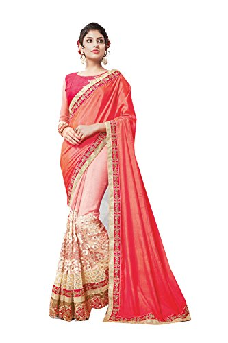 Dessa Collections Indian Sarees For Women Wedding Pink Designer Party Wear Traditional Sari by Dessa Collections